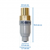 "FMBP600_600kPa 1/2"" BSP brass inlet / plastic with 1/4"" JG outlet port( FILTAMATE APEX)"