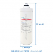 ZIP Compatible 91241 Triple Action Hydrotap Water Filter 5 mic