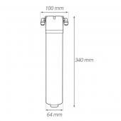 Puretec QT12 Quick-Twist Undersink Water Filter System with LED Faucet
