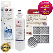 LG Genuine Fridge Water Filter LT700P(ADQ36006101) with Genuine Fridge Air Filter LT120F(ADQ73214404)