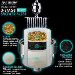 Aqua Blue  H20 HIigh Output Quality 3 Stage Shower Filter High Quality system