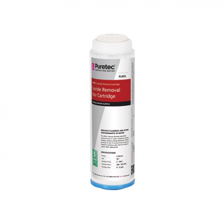 Puretec FL051 Fluoride Reduction Water Filter Cartridge 2.5 x 10 inch 5 Micron
