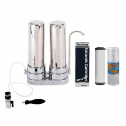 Doulton Ceramic Superblock Twin Counter top Stainless steel Water Filter System