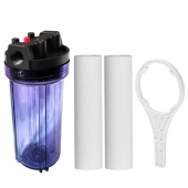 10 Inch Clear Big Blue Filter Housing with 5 Micron PP Sediment Water Filter
