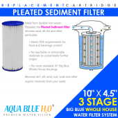 Triple Stage  Big Blue Whole House System  with Replacement Filter Cartridge