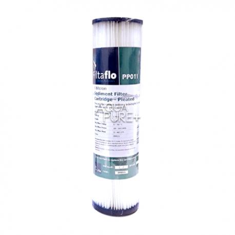 "Puretec 10"" Pleated Sediment Cartridge 1 Micron Water Filter"
