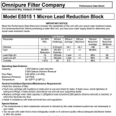 Omnipure E5515-SB is a Subsitute Filter for EVERPURE S-54 & H-54