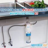 Aqua Blue H20  High Flow in-line - 4 Stage Water Filtration System