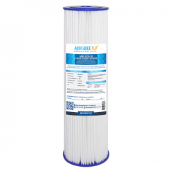Aqua Blue H20 Washable Pleated Sediment Filter 10 x 2.5 10 Mic