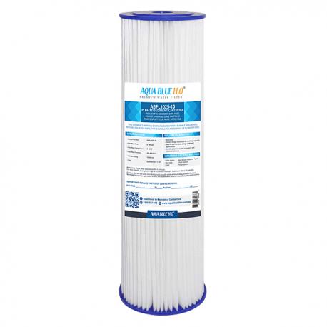 Aqua Blue H20 Washable Pleated Sediment Filter 10 x 2.5 10 Mic