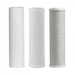 "Undersink 3 Stage Water Filter Cartridges Ceramic -PP- Carbon 10""- Complete Set"