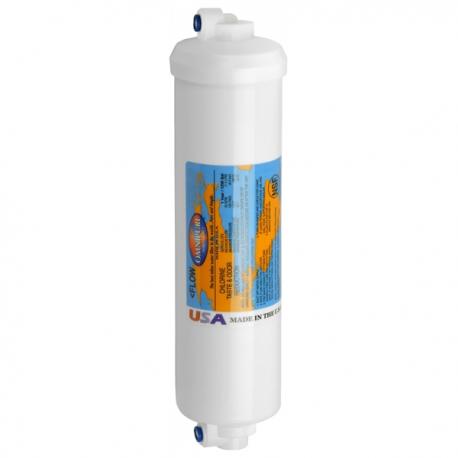 "Omnipure K2540 SS 1/4"" QC Elbow Carbon Block Inline Filter"