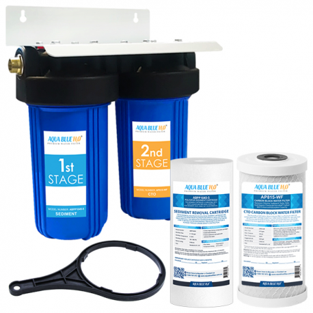 "Big Blue Twin Water Filter System with Filters 10"" x 4.5"""