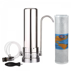 Stainless Steel Counter Top Drinking Water Filter System with Omnipure OMB934 5 Micron Carbon Block