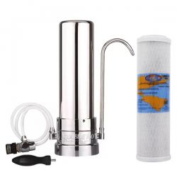 Stainless Steel Counter Top Drinking Water Filter System with Omnipure OMB934 10 Micron Carbon Block