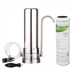 Stainless Steel Counter Top Drinking Water Filter System with Pentek CBC-10 Carbon Block Filter