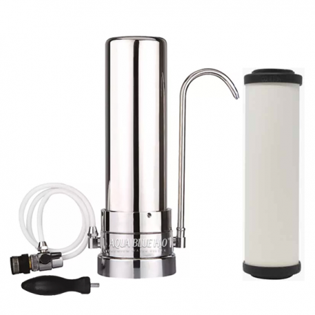Stainless Steel Counter Top Drinking Water Filter System with Doulton W9223006 Ultracarb Ceramic Water Filter