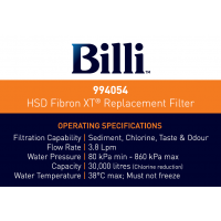 Billi HSD Fibron XT® Replacement Filter 994054 994004