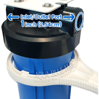 10″ Big Blue Single High Flow Rate Filter Housing Whole System, 10 Micron CTO Carbon Block Filter