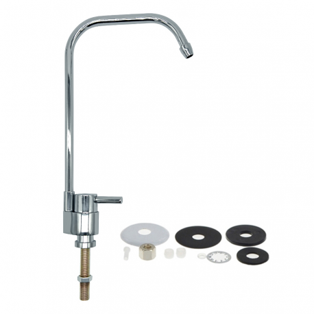 "Drinking Water Faucet 1/4"" Stainless Steel Osmosis RO Water Filter Faucets Reverse Sink"