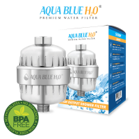 Aqua Blue H2O Universal Shower Filter system with 12 stage cartridge