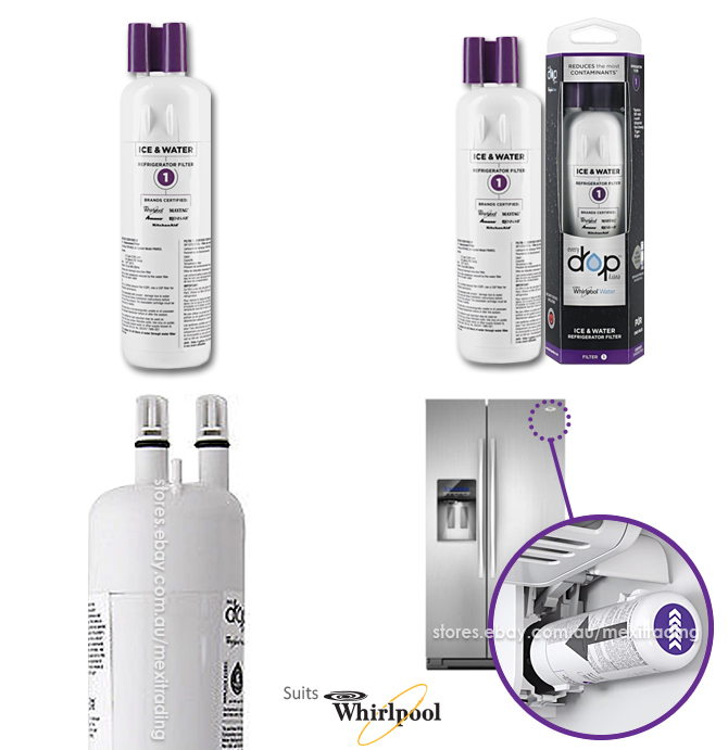 Details about Whirlpool Pur W10295370A EDR1RXD1 Filter 1 Refrigerator Water  Filter